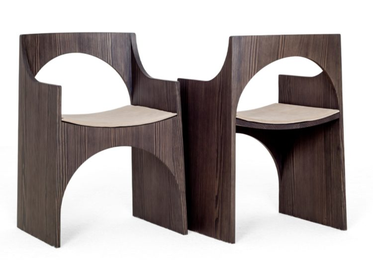 Christophe Delcourt  CLE Chair with Leather Seat Pad