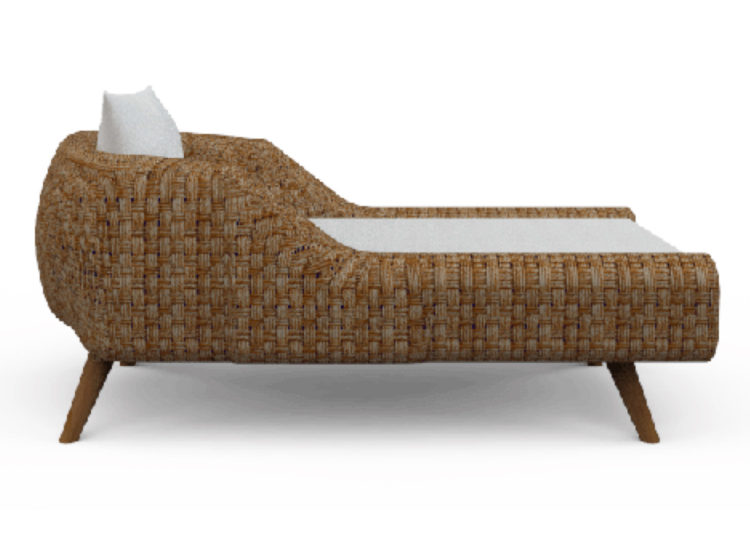 Osier Belle Bulle Chaise Lounge