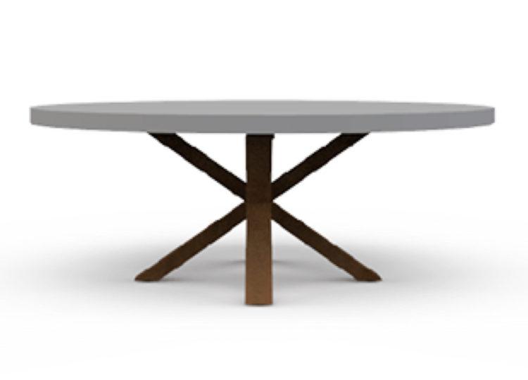 Osier Belle Concrete Coffee Table