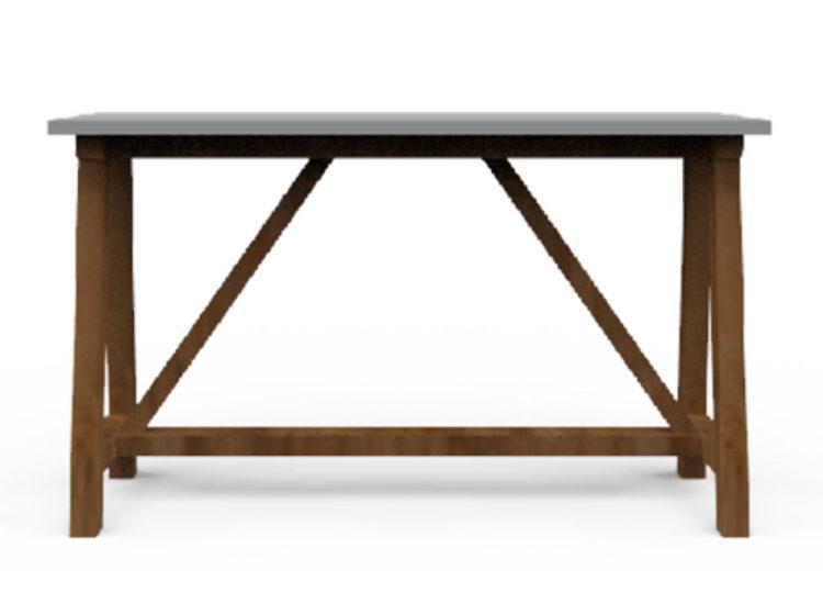 Osier Belle Dining Concrete Bar Table