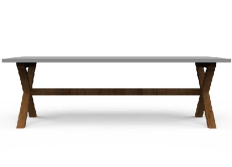 Osier Belle Dining Concrete Rectangle Table