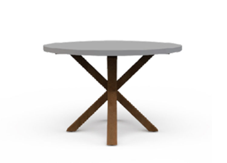 Osier Belle Dining Concrete Round Table