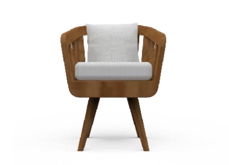 Osier Belle Teak Dining Chair