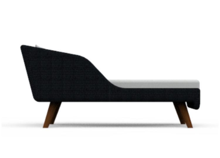 Osier Belle Tressé Chaise Lounge