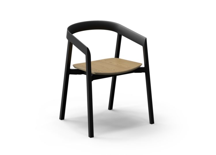 VUUE Mornington Dining Chair with Seat in Oak