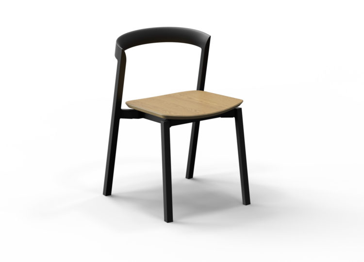 VUUE Mornington Stacking Chair With Seat In Oak