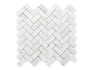 Earp Bros Bianco Carrara Herringbone Mosaic
