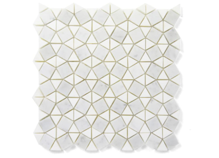 Earp Bros White Thassos + Bianco Carrara Arabesque Mosaic