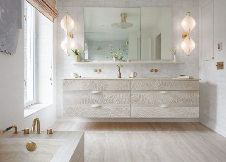 Bathroom | Johnson-Miner Townhouse by Elizabeth Roberts Architects
