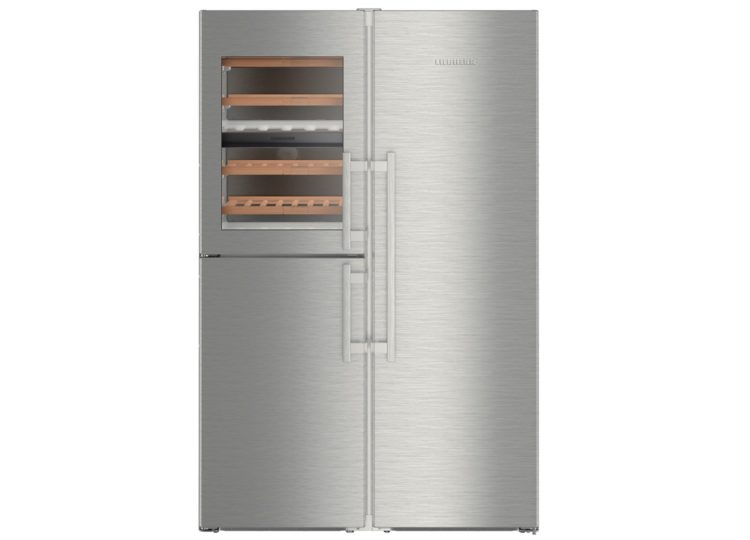Liebherr BluPerformance Side by Side Fridge Freezer with Wine Cellar and BioFreshPlus