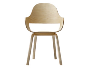 BD Barcelona Showtime Nude Chair Wood Base