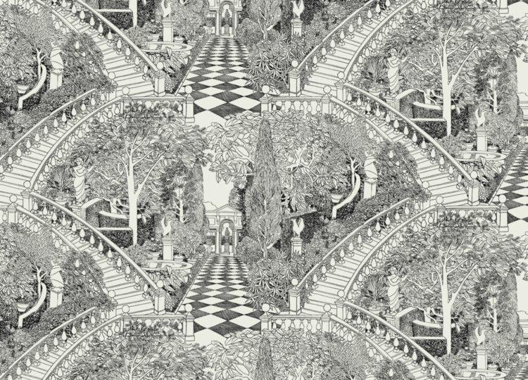 Marthe Armitage Italian Garden Wallpaper