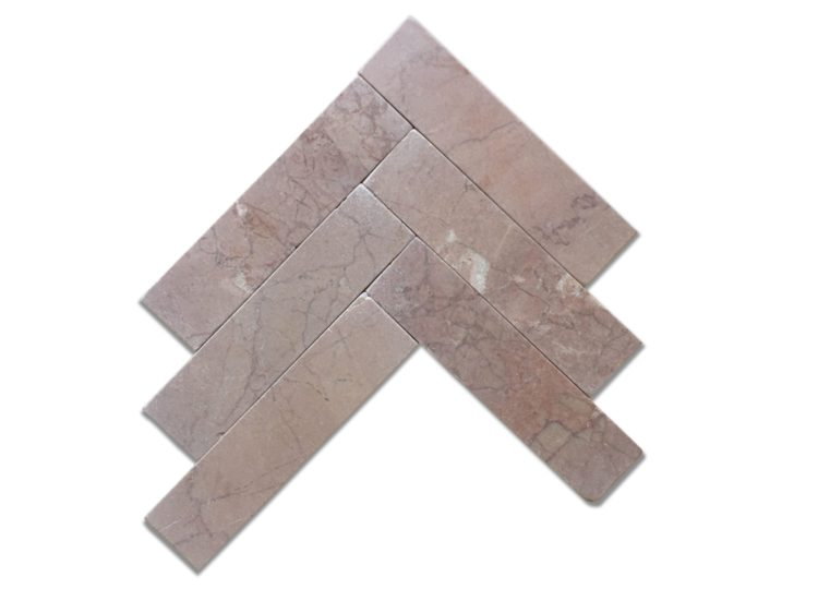 Rosso Crema Tumbled Marble Long Subway