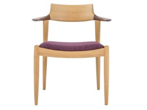 Nissin Furniture Crafters White Wood Arm Chair