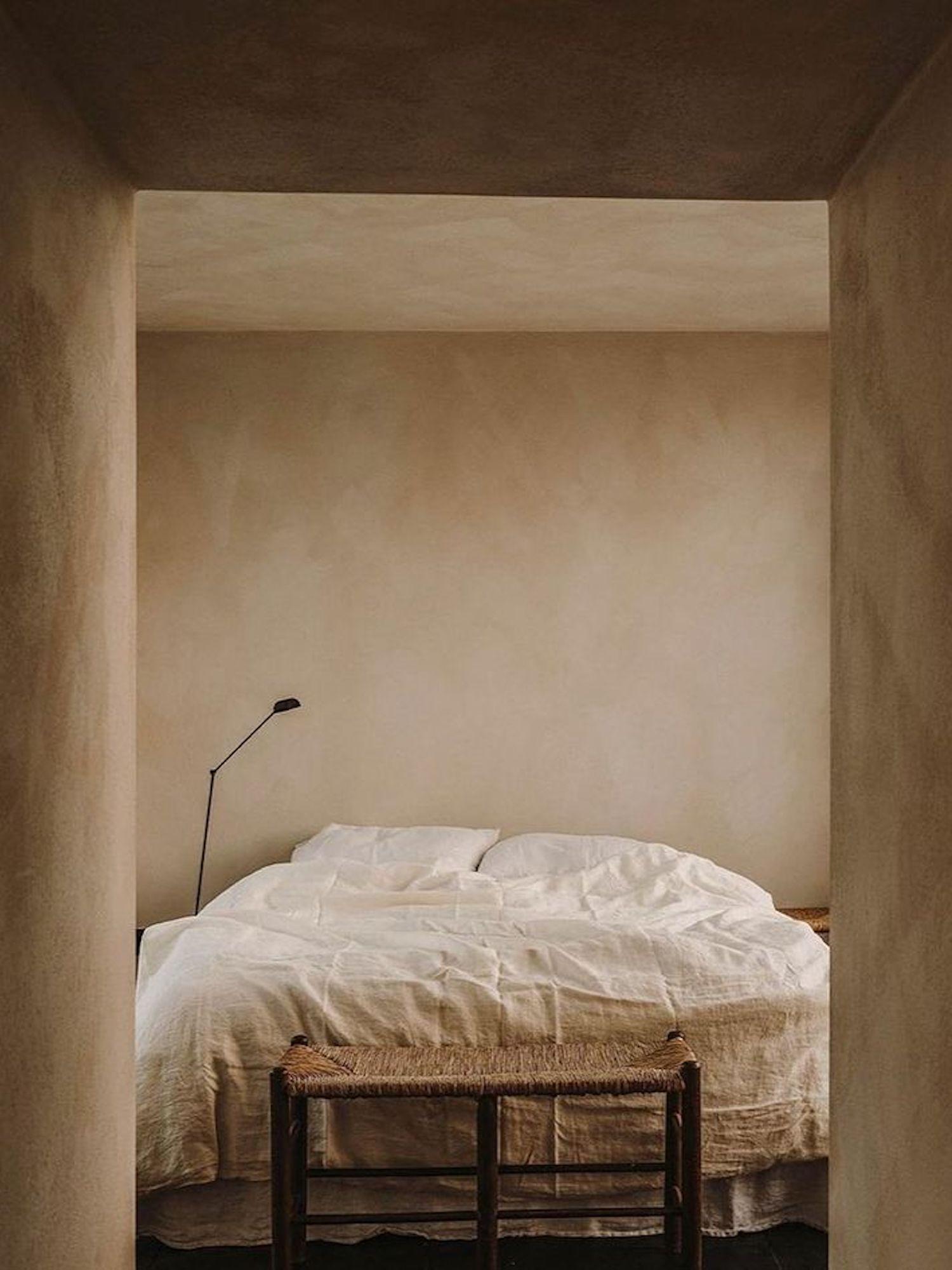 est living earthen tones bedroom 1